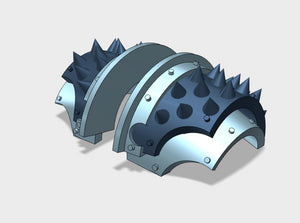 5x Round Spiked - T:2a Cataphractii Shoulder Sets 3d printed