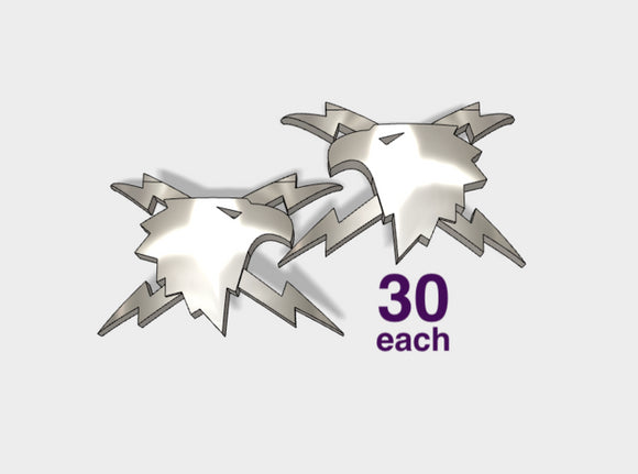 60x Thunder Eagles - Shoulder Insignia pack 3d printed
