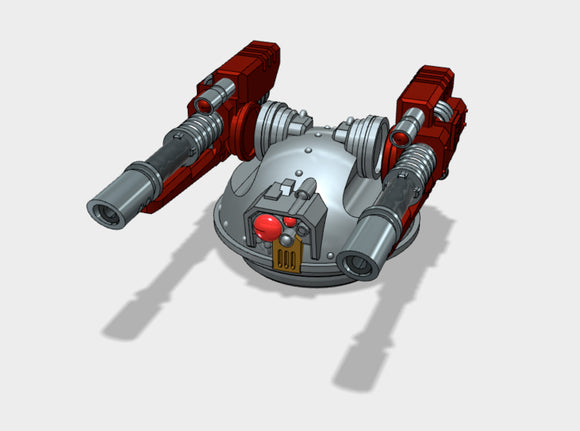 Linebacker Turret w/Twin Laser Cannons 3d printed