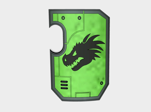 Dragon Head - Marine Boarding Shields 3d printed Small = 1 Shield