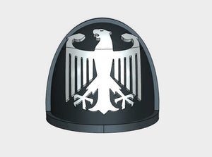 10x German Eagle - G:4a Shoulder Pads 3d printed