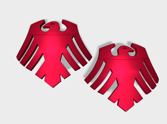 60x Red Ravens - (L&R) Shoulder Insignia pack 3d printed