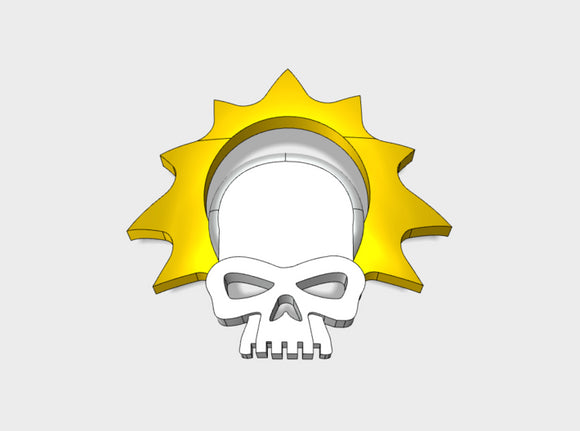 60x Halo Skull - Shoulder Insignia pack 3d printed