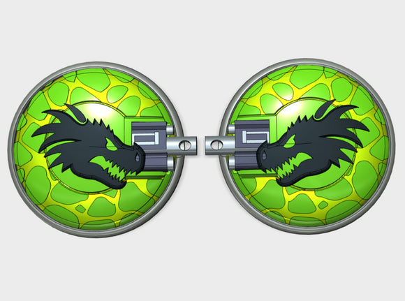 Dragon Head - Naxos Combat Shields 3d printed