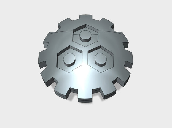 60x Clan Gearbolt - Shoulder Insignia pack 3d printed