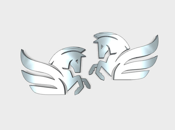 60x Winged Horse - Shoulder Insignias (L&R) 3d printed 30 Left & 30 Right