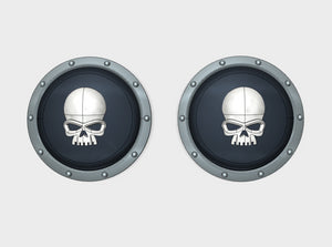 10x Skull - Round Power Shields (L&R) 3d printed