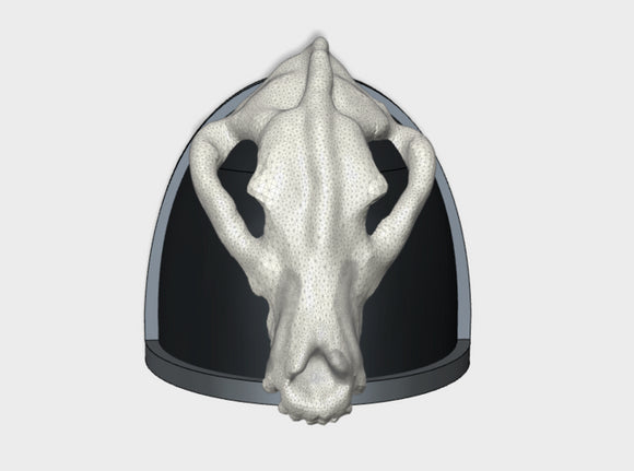 10x 3D Wolf Skull - G:4a Shoulder Pads 3d printed