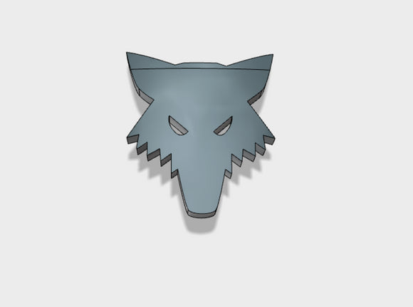 60x Wolf Head - Shoulder Insignia pack 3d printed