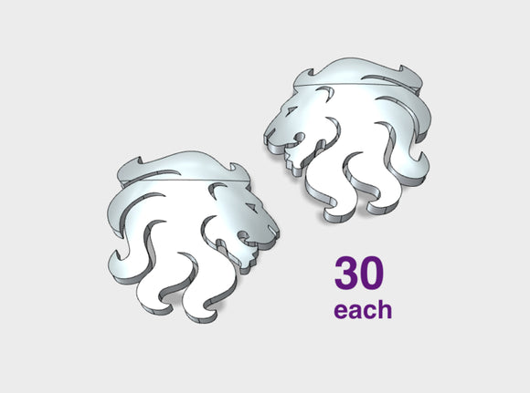 60x Celestial Lions - Shoulder Insignia pack 3d printed