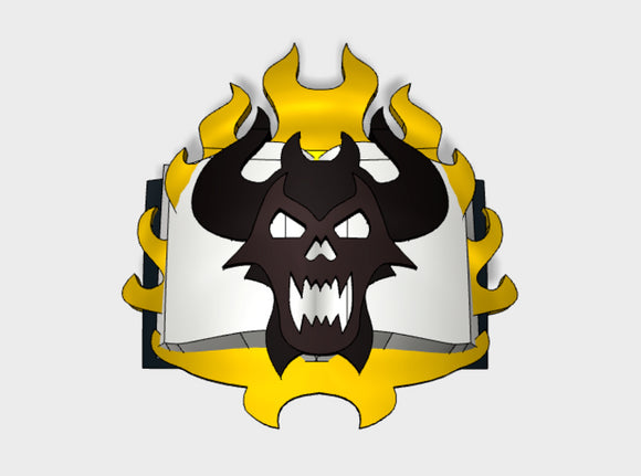 60x Book of Demons - Shoulder Insignia pack 3d printed