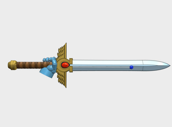 10x Right-handed Energy Sword: McKrag 3d printed