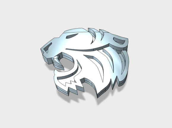 60x Silver Tigers - Shoulder Insignia pack 3d printed