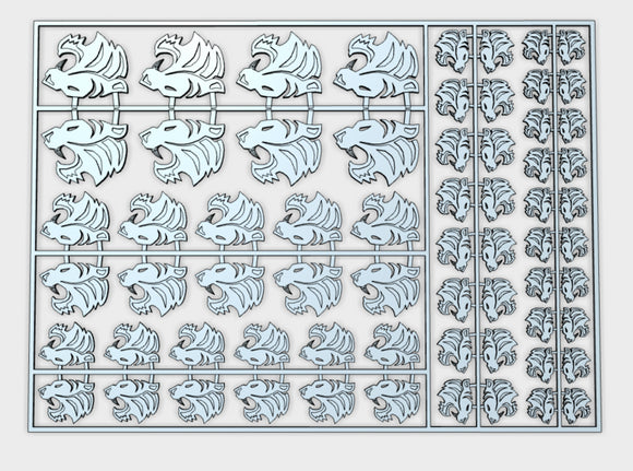 Silver Tigers - Flat Vehicle Insignia pack 3d printed