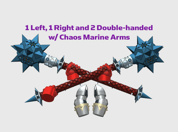 4x Power Mace: Vial - Chaos Set 3d printed