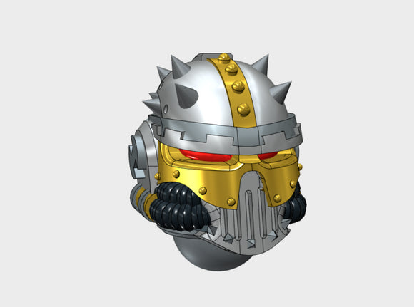 10x Spiked : Iron Skull Helmets 3d printed