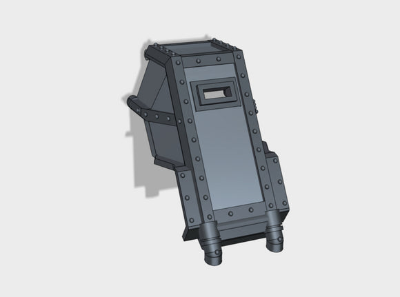 Sarcophagus War-Suit Cockpit 3d printed