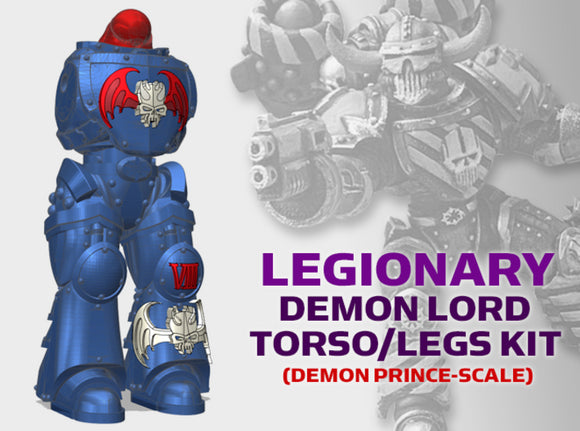 Nightmare Legionary: Demon Lord Torso/Leg Kit 3d printed