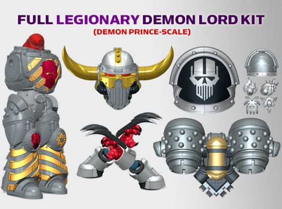 Iron Heads : Legionary Demon Lord Kit 1	 3d printed