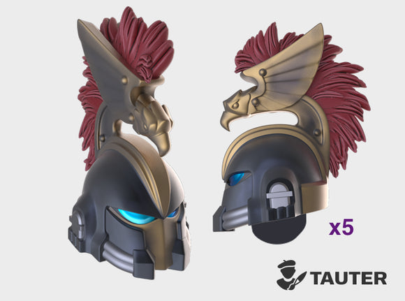 Eagle Plum Crest - Vanguard Helmets 3d printed Small = 5 Helmets | Medium = 10 Helmets