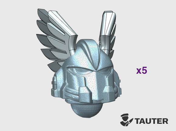 Angle Wings - Vanguard Helmets 3d printed Small = 5 Helmets | Medium = 10 Helmets