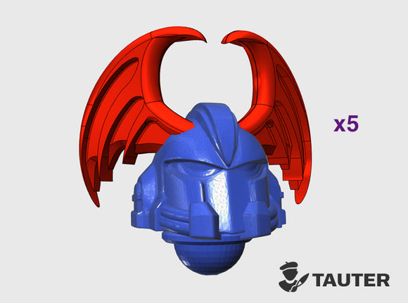 Bat Wing - Vanguard Helmets 3d printed Small = 5 Helmets | Medium = 10 Helmets