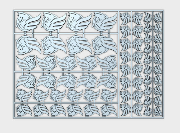 Winged Horse - Flat Vehicle Insignia pack 3d printed