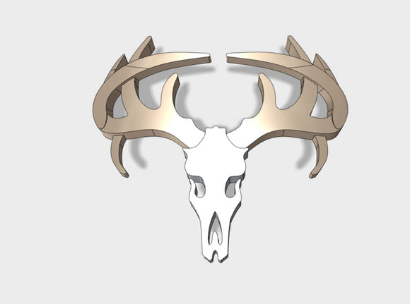 60x Deer Skull - Shoulder Insignia pack 3d printed HANDLE WITH CARE