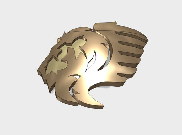 60x Lion Wing - Left Shoulder Insignia pack 3d printed