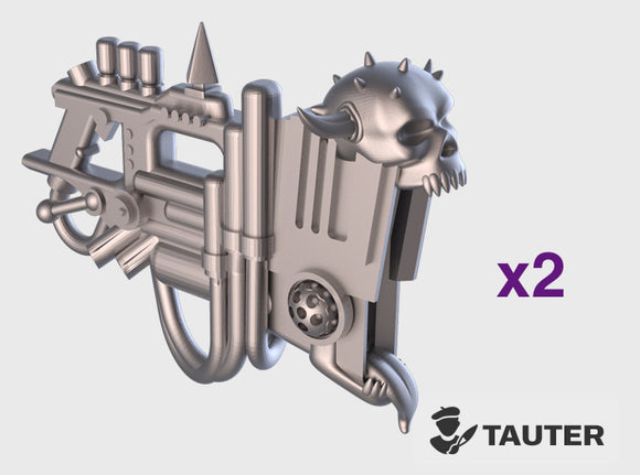 Hellscreamer: Tatu (PM) 3d printed Small = 2 Guns | Medium = 6 Guns | Large = 10 Guns