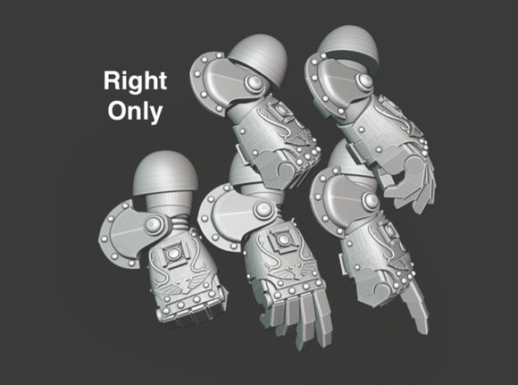 5x Ornate - Right-handed Energy Fists [Group 1] 3d printed