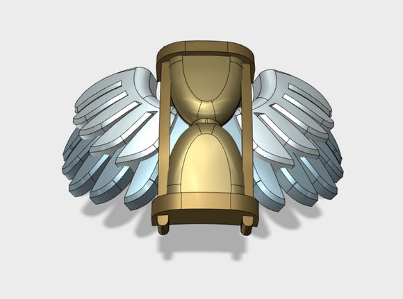 60x Winged Hourglass - Shoulder Insignia pack 3d printed