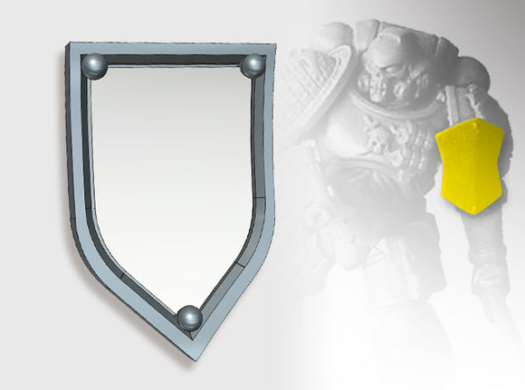 20x Blank - Kite Shoulder Shields 3d printed