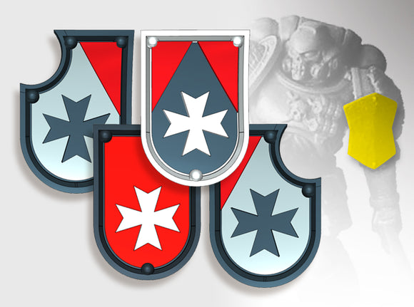 20x Maltese Cross - Shoulder Shields Variety Pack 3d printed