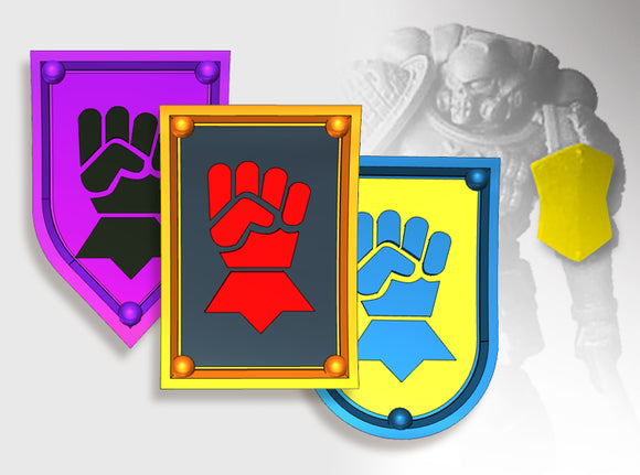 20x Fist - Shoulder Shields Variety Pack 3d printed