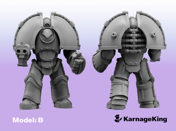ST:1 Invader Armor - Base Model:B 3d printed