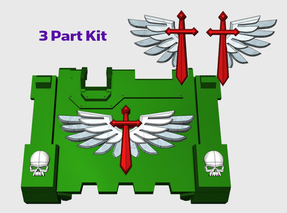 Winged Sword : Impulsor Branding Kit 1 3d printed
