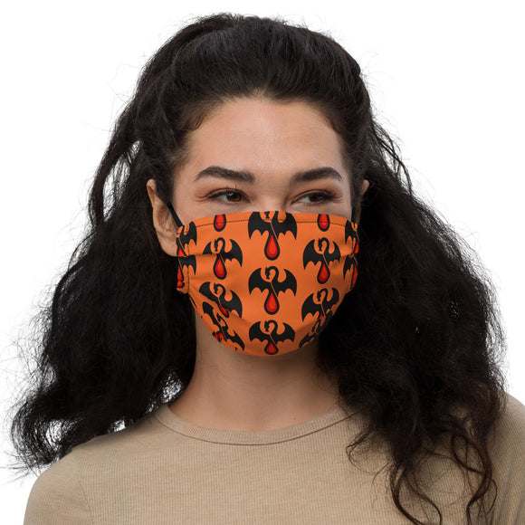 Orange Blood Dragon Premium face mask