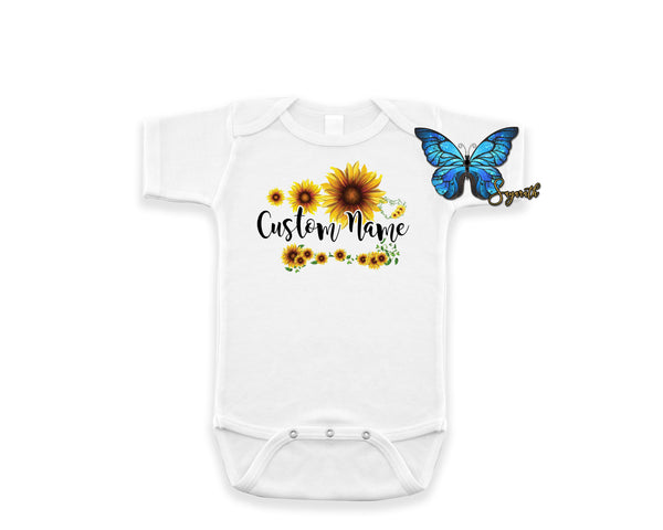 Sunflower *Custom Name* Shirt • Style #2