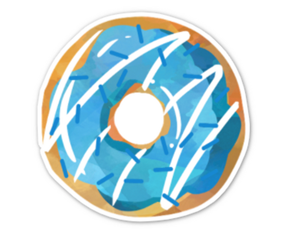 Blue Frosting Donut Sticker