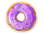 Purple Frosting Donut Sticker