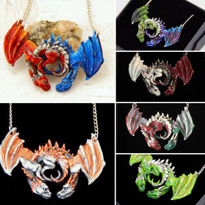 Choose your Colours: Dragon Embrace Pewter Pendant