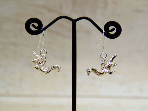 Sterling Silver Plesiosaur Earrings