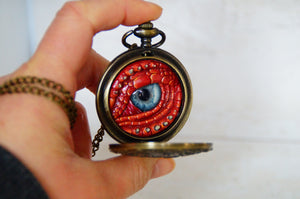 Red Steampunk Pocket Watcher