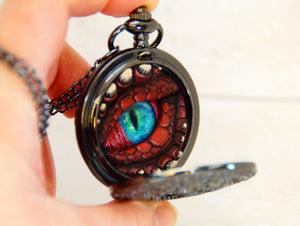 Red/Black Steampunk Pocket Watcher