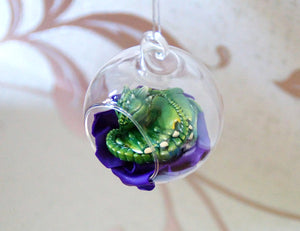 Custom Sleepy Dragon Bauble