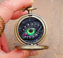Load image into Gallery viewer, Black Steampunk Pocket Watcher
