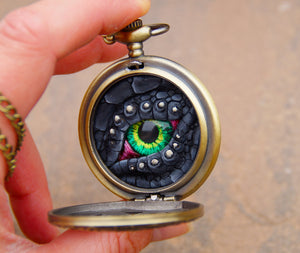 Black Steampunk Pocket Watcher