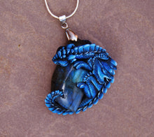 Load image into Gallery viewer, Night Blue Labradorite Guardian Dragon Pendant
