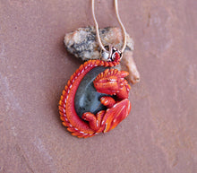 Load image into Gallery viewer, Red Labradorite Guardian Dragon